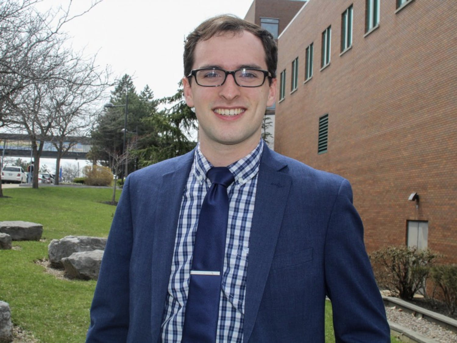 Junior political science and computer science major Mike Brown has been elected for a second term as UB Council student representative. Brown's plans for his second term include improved parking and a implementing a student-centric budgeting system.