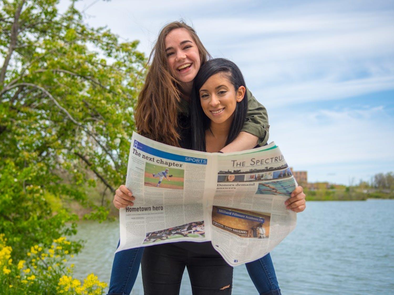 Managing Editor Tori Roseman (top) and Editor in Chief Gabriela Julia (bottom)