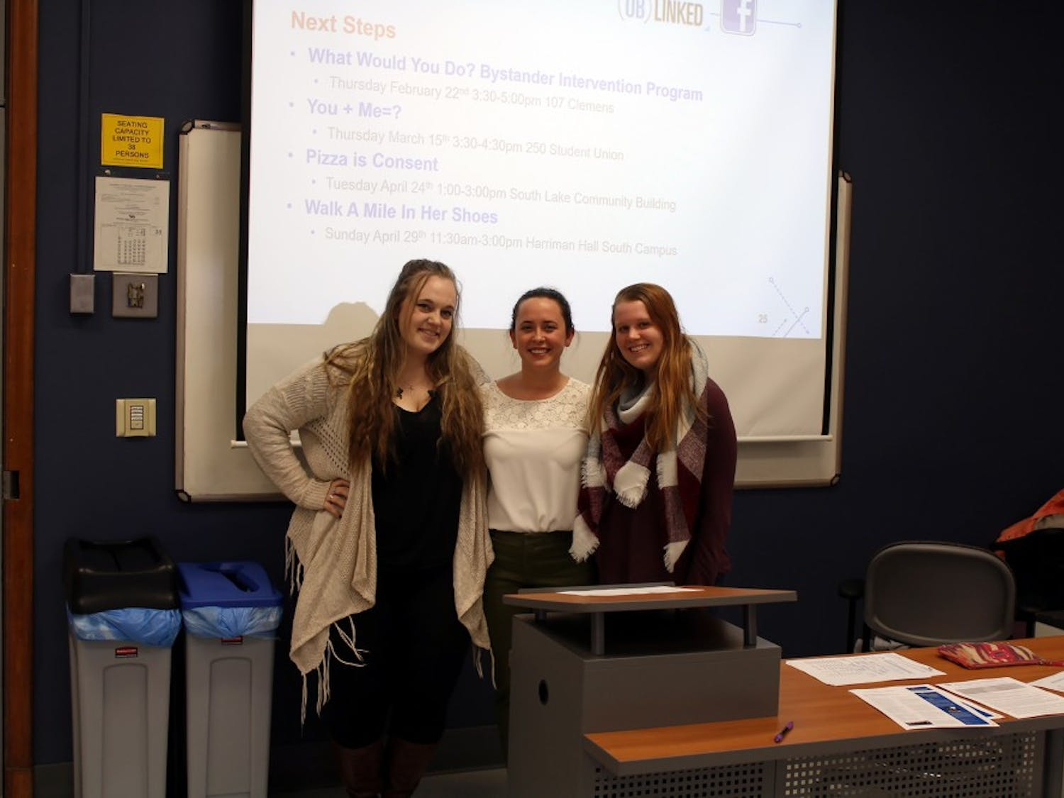 Students attend a workshop that helps them speak to victims of sexual assault and learn why victims are so reluctant to speak about their experiences.
