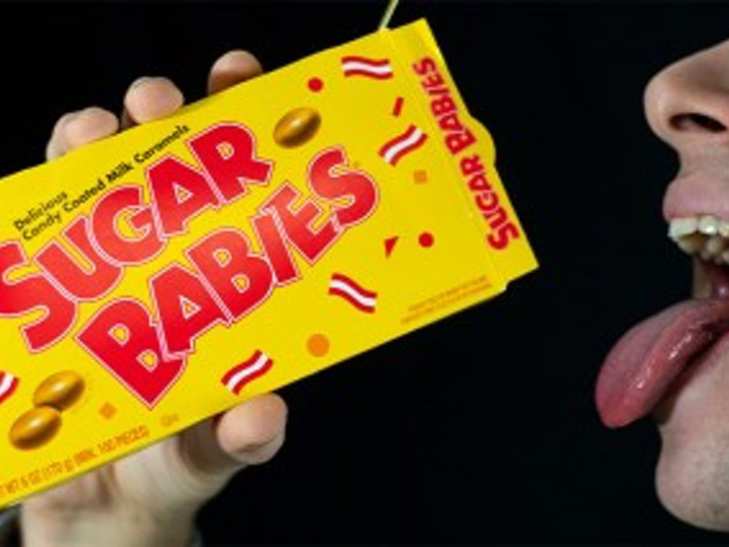Photo Illustration of students eating Sugar Babies caramels. UB students are finding life as a sugar baby as an alluring cash-making alternative.
