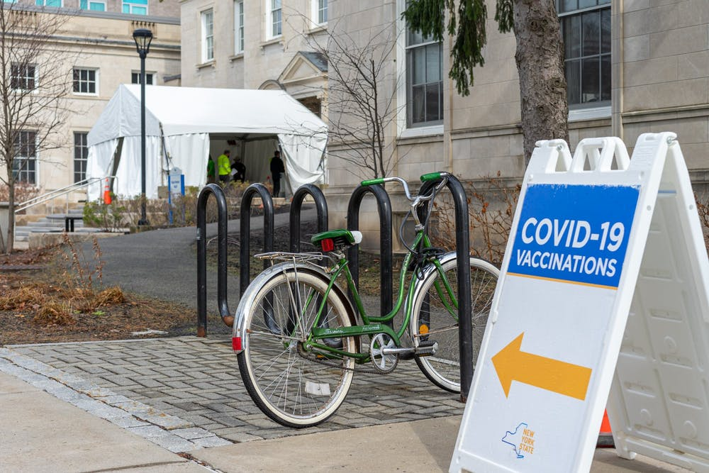 Roughly 28,500 students have received a COVID-19 vaccine at places like South Campus' Harriman Hall.