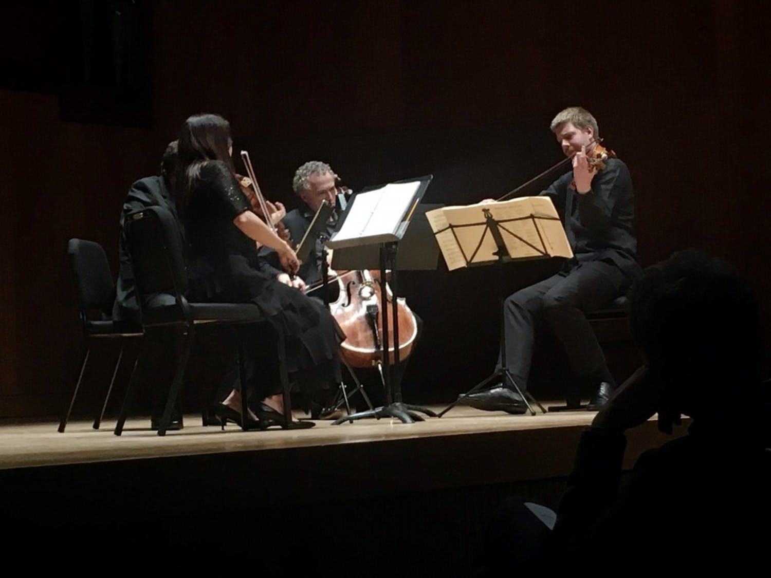 The Pacifica Quartet took to Slee Hall from Thursday to Sunday, performing selections from Beethoven.