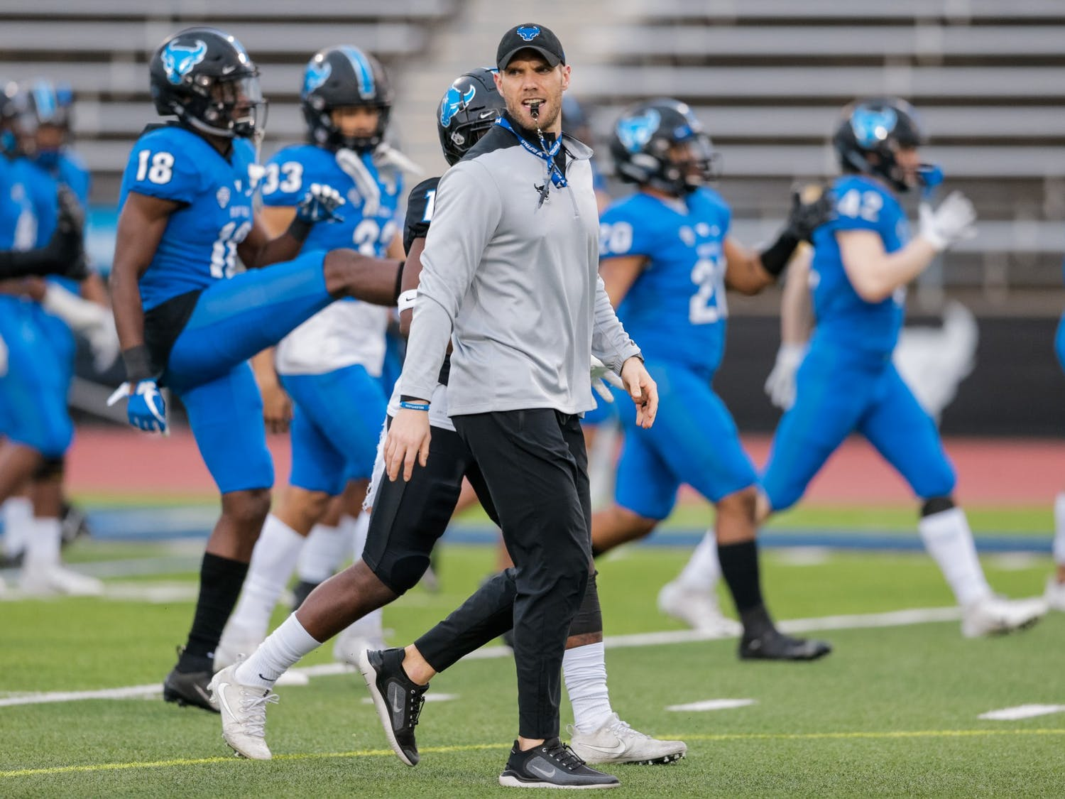 UB strength and conditioning coach Matt Gildersleeve has been at the forefront of the fight to raise money for service workers impacted by COVID-19.