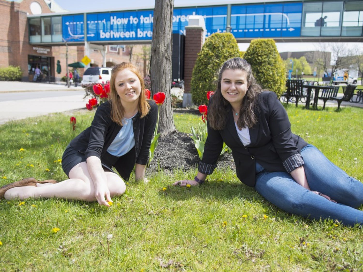 Senior Features Editor Sarah Crowley (left) and Assistant Features Editor Lindsay Gilder (right)