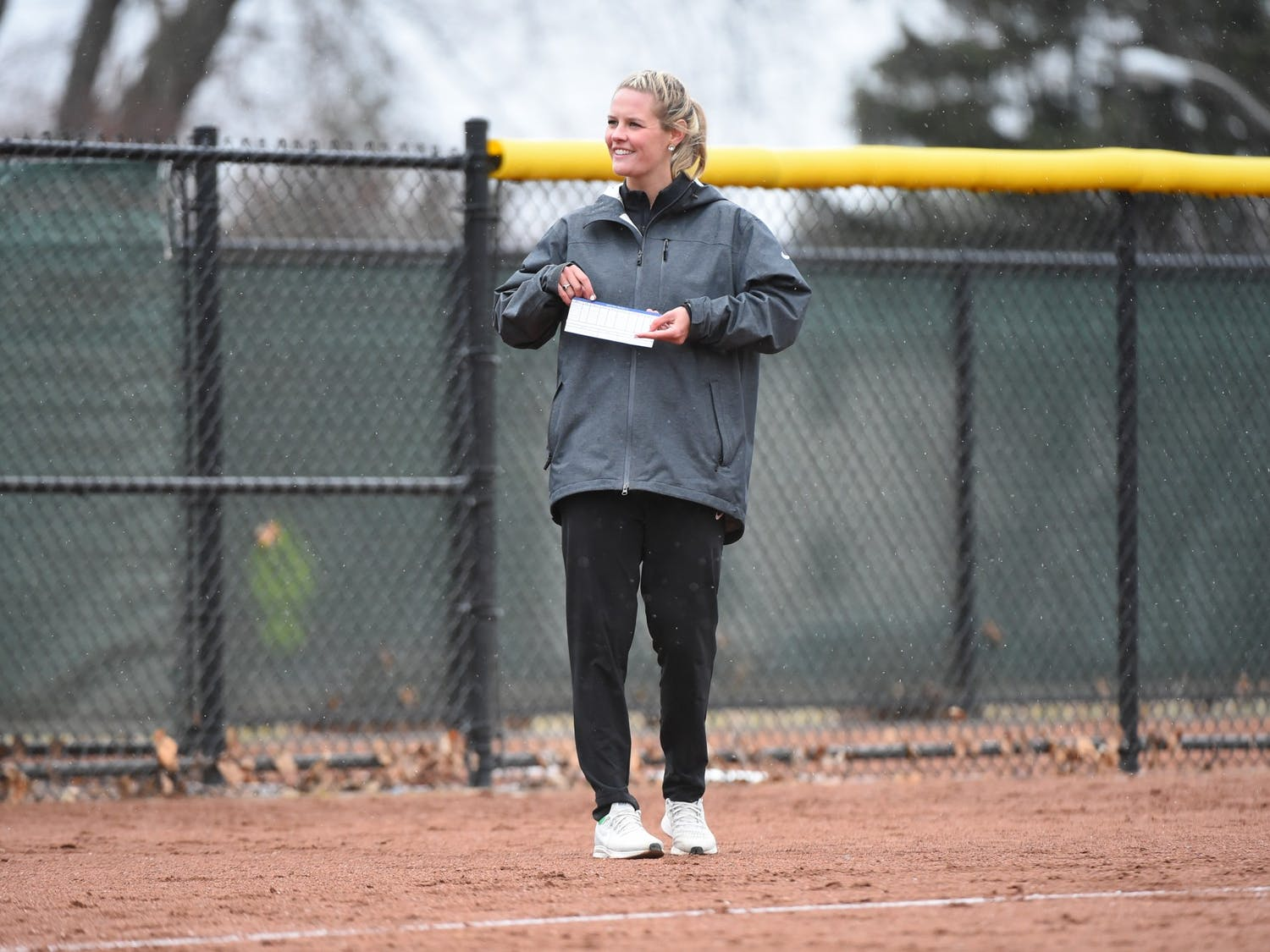 Former Le Moyne softball head coach Riley Johnson joined the UB coaching staff last September.