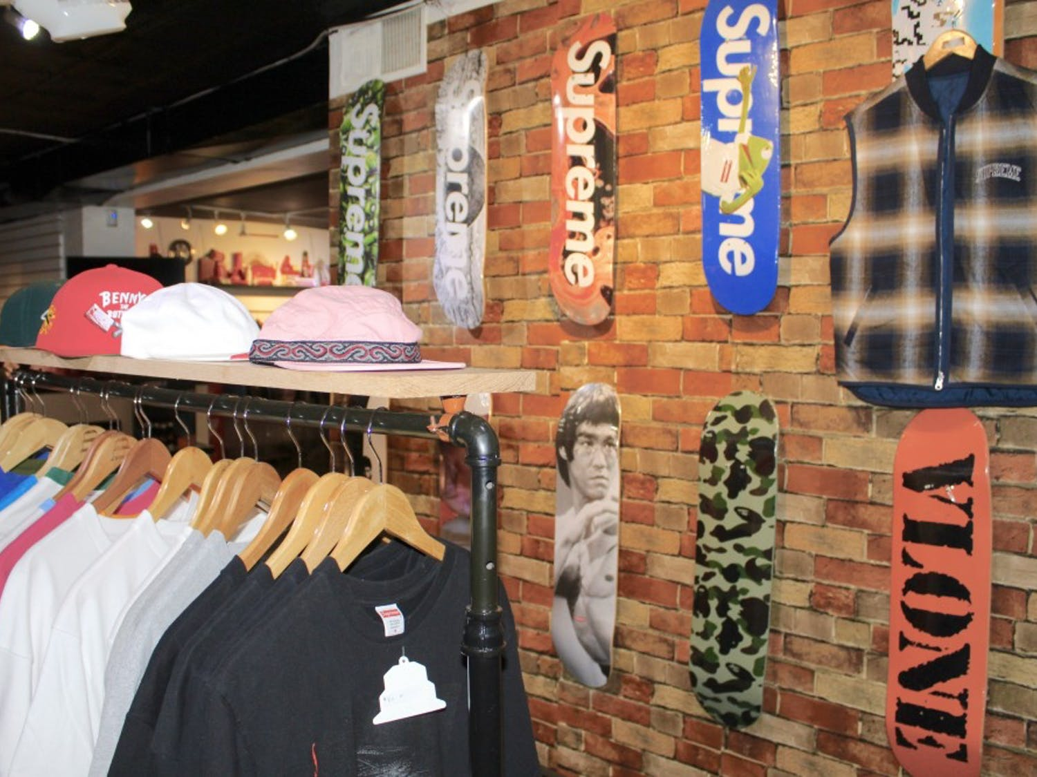 The Cellar on Elmwood Avenue is just one location where students can cop vintage T-shirts and Supreme brand merchandise in Buffalo.