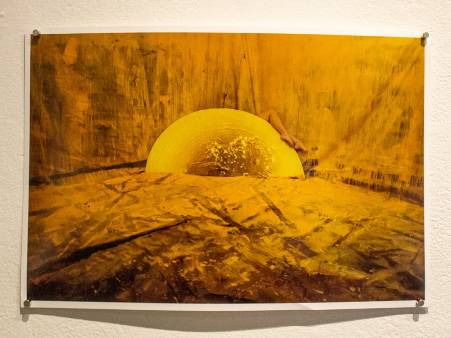 """Artwork by Katherine Gaudy at UB's """"Unspeakable"""" exhibit in the Center for the Arts."""