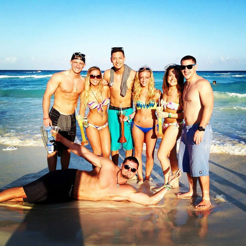 """<p>Breanna Cragg, a 2014 UB alumna, went to Cancun, Mexico, on her senior year spring break with 11 of her friends. She said the atmosphere was """"100 percent"""" a stereotypical college spring break atmosphere and she spent the days drinking on the beach and the nights dancing at clubs.</p>"""