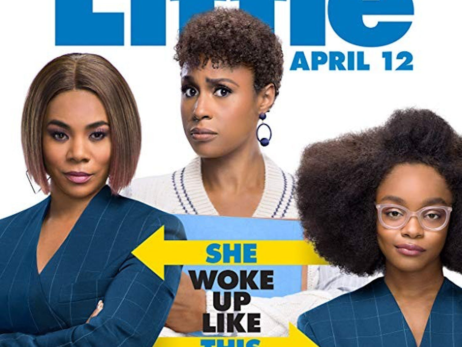 """Little"" stars Regina Hall and Issa Rae. The film is shot as a reversal of the hit ""Big,"" when Hall's character is turned into a child."