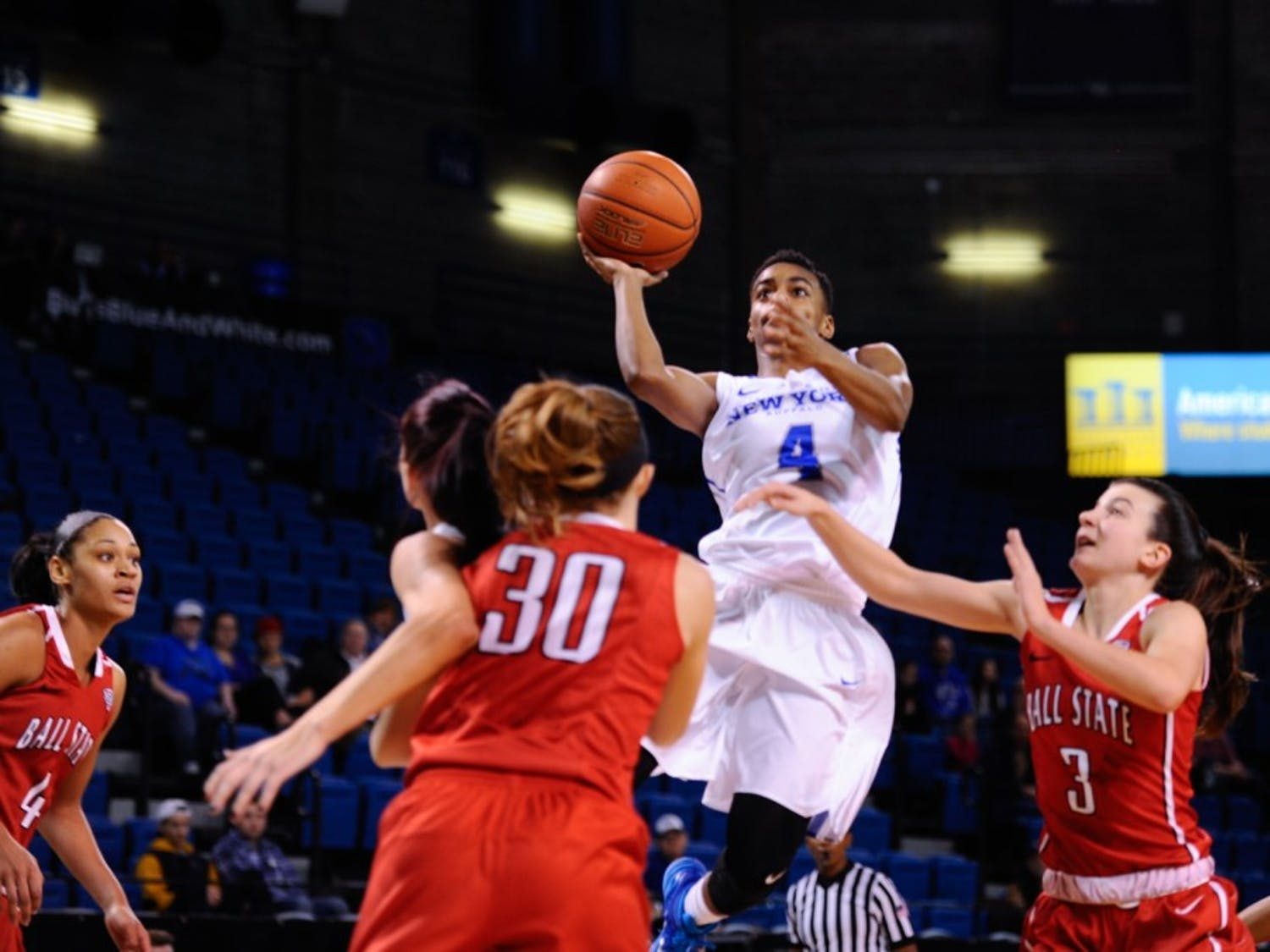 Ball State defeated the women's basketball team 59-57 at Alumni Arena Saturday afternoon. The Bulls fall to 11-10 and 3-7 in the Mid-American Conference.