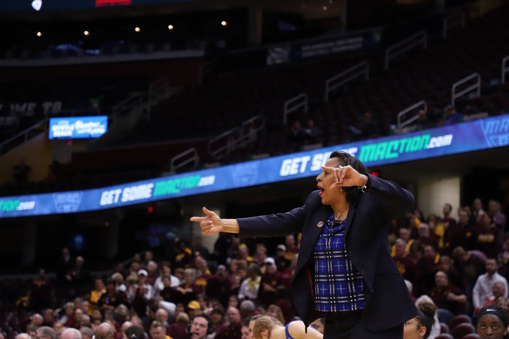 Ninth-year women's basketball head coach Felisha Legette-Jack tries to be even-keeled during the season.
