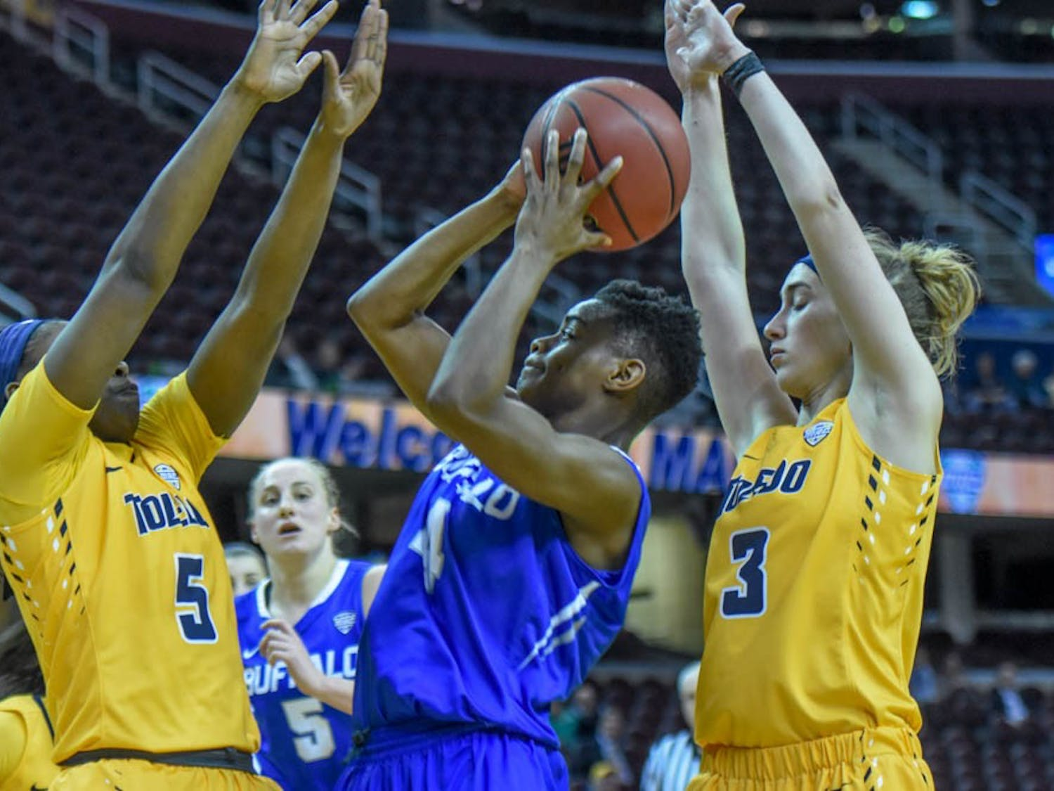 UB women's basketball fell to Toledo 72-65 in the MAC Tournament semifinal. The Bulls are still hopeful for a bid to the WNIT Tournament.