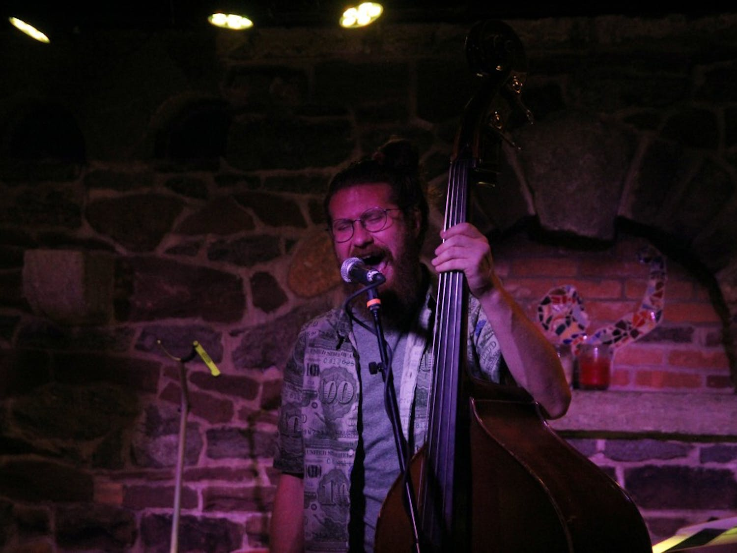 Bassist and singer Casey Abrams performed songs and coversnew and old at Babeville's The9th Ward on Saturday night.