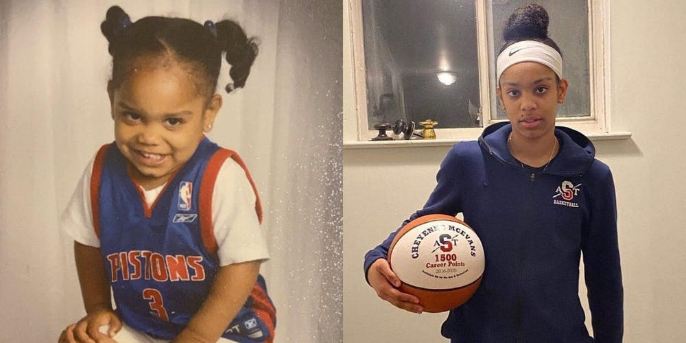 <p>McEvans started playing basketball at age five, but she has had to overcome adversity to get to where she is today.</p>