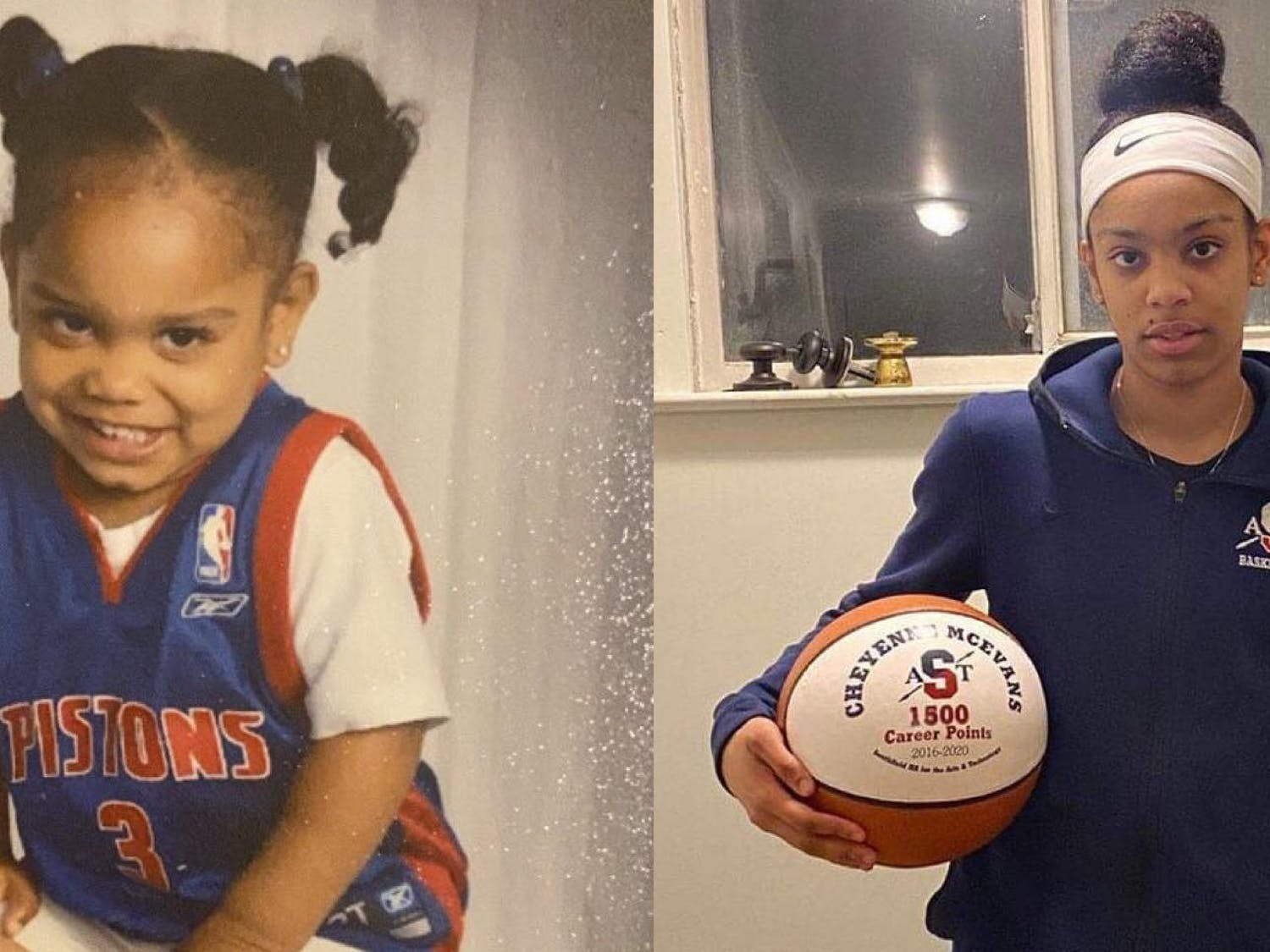 McEvans started playing basketball at age five, but she has had to overcome adversity to get to where she is today.