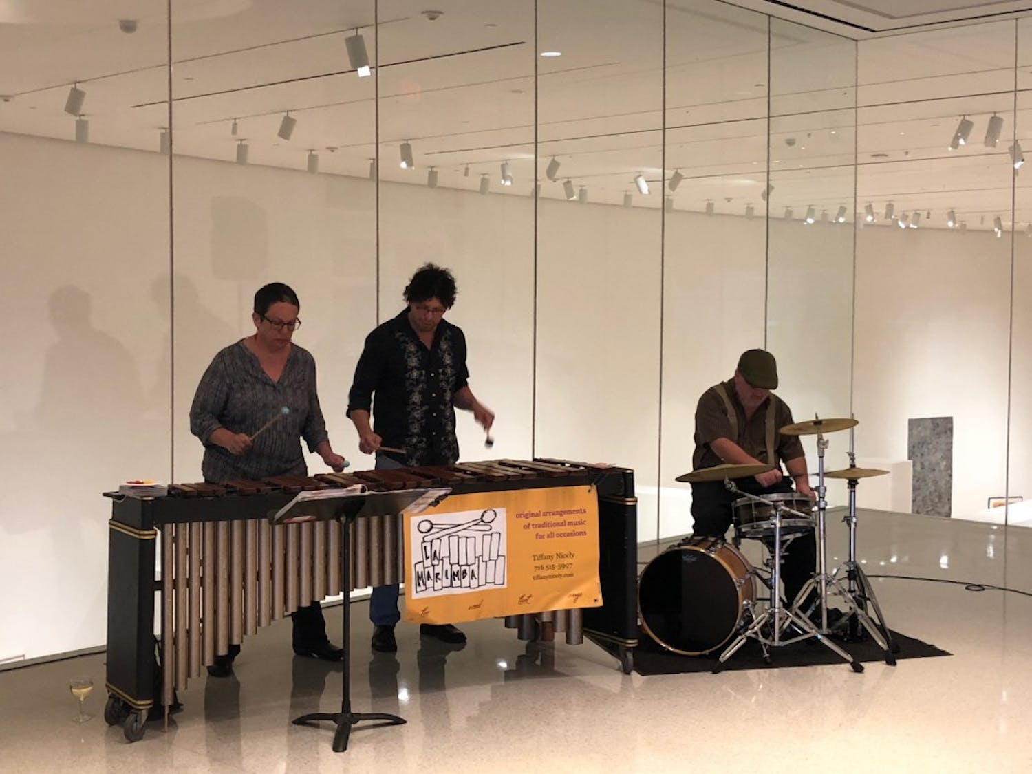 La Marimba takes over the Burchfield Art Center for the annual Riverrun Global Film Series. The traditional marimba music of Mexico and Central America are accompanied by the bands witty humor during Friday's event.