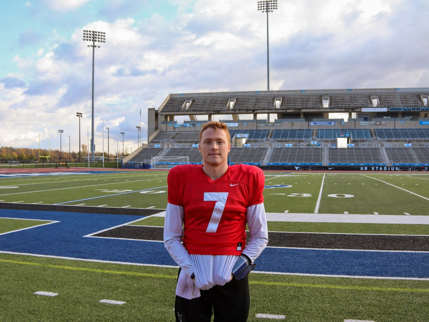 Sophomore QB Kyle Vantrease has a unique role on the UB football team. This season Kyle has found himself as the teams starting quarterback and starting punter.
