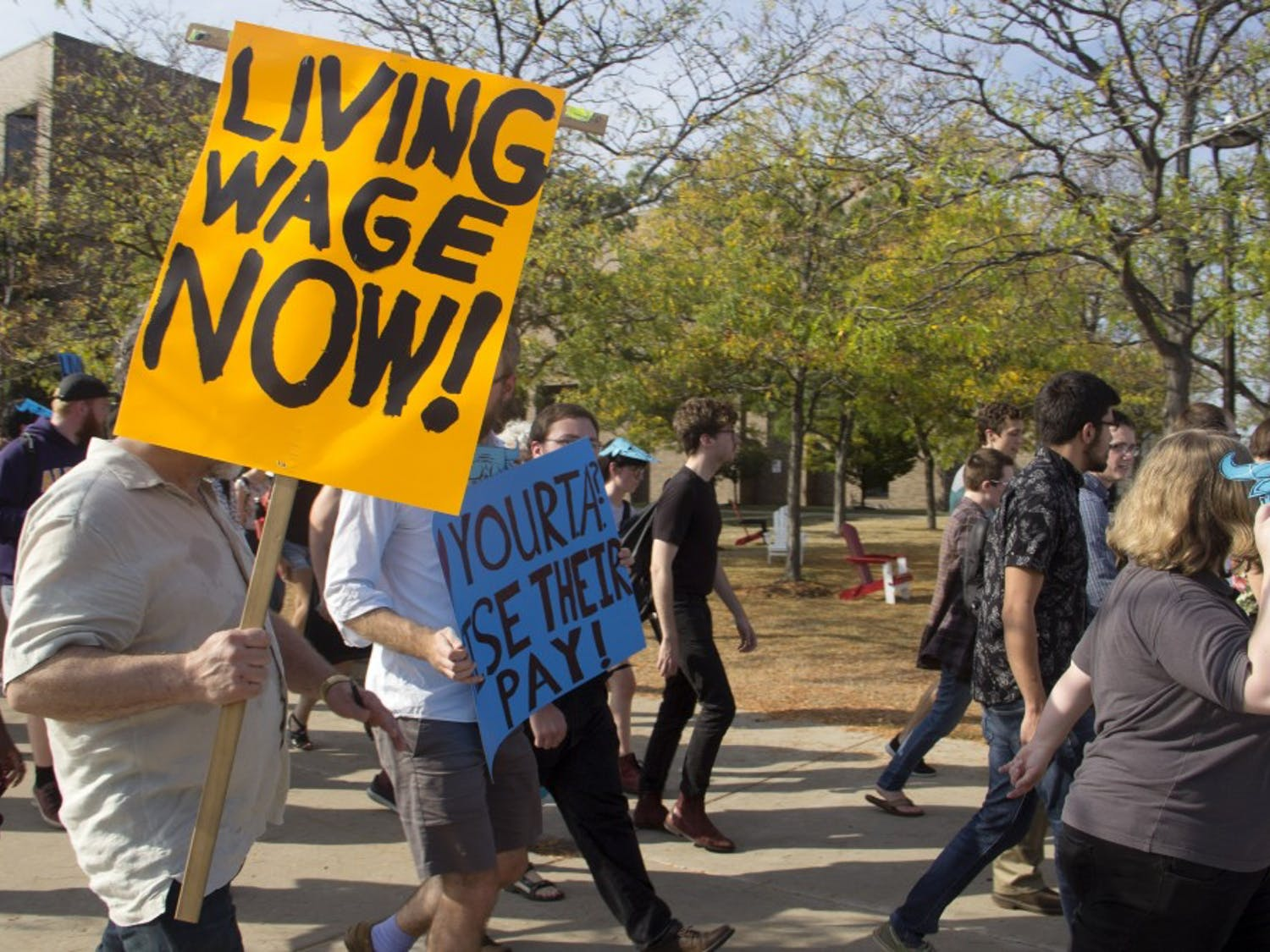 """TAs, graduate and doctoral students in the English department will receive a larger stipend beginning in the fall semester. After fighting for a """"living wage,"""" many students still think that these changes aren't satisfactory."""