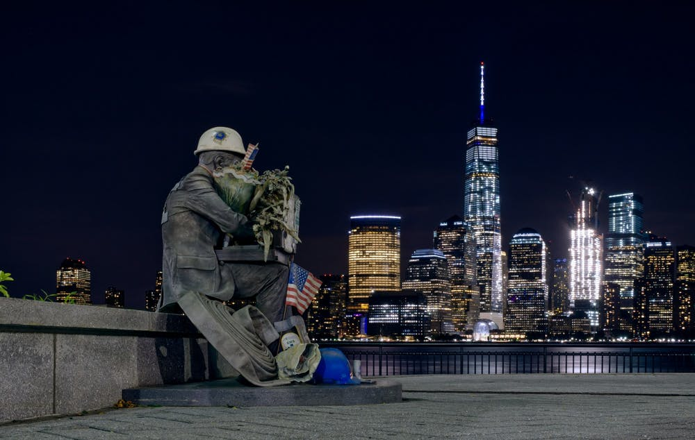 <p>The 9/11 Memorial in Jersey City commemorates the thousands of people who lost their lives on Sept. 11, 2001.</p>