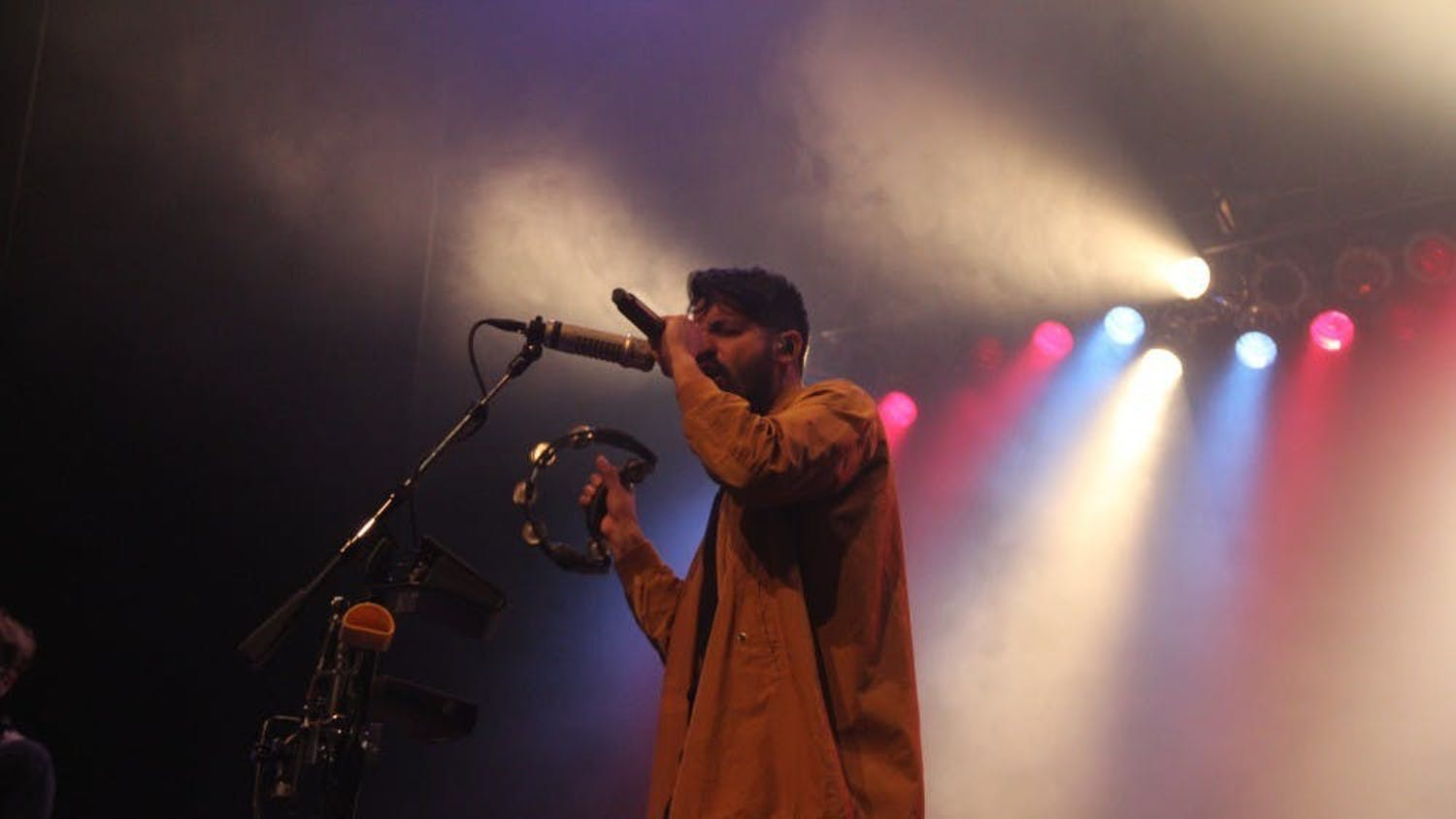Sameer Gadhia, frontman of Young the Giant, played a tambourine during Fall Fest in 2019.