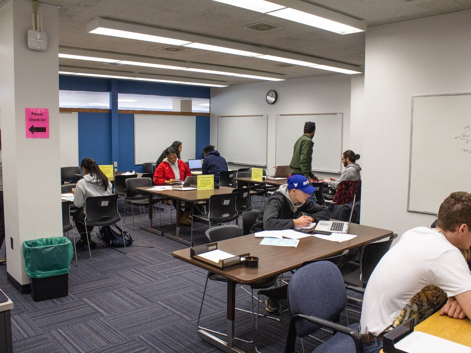 UB students receive math tutoring for free in the Math Place located in 211 Baldy Hall on Tuesday.