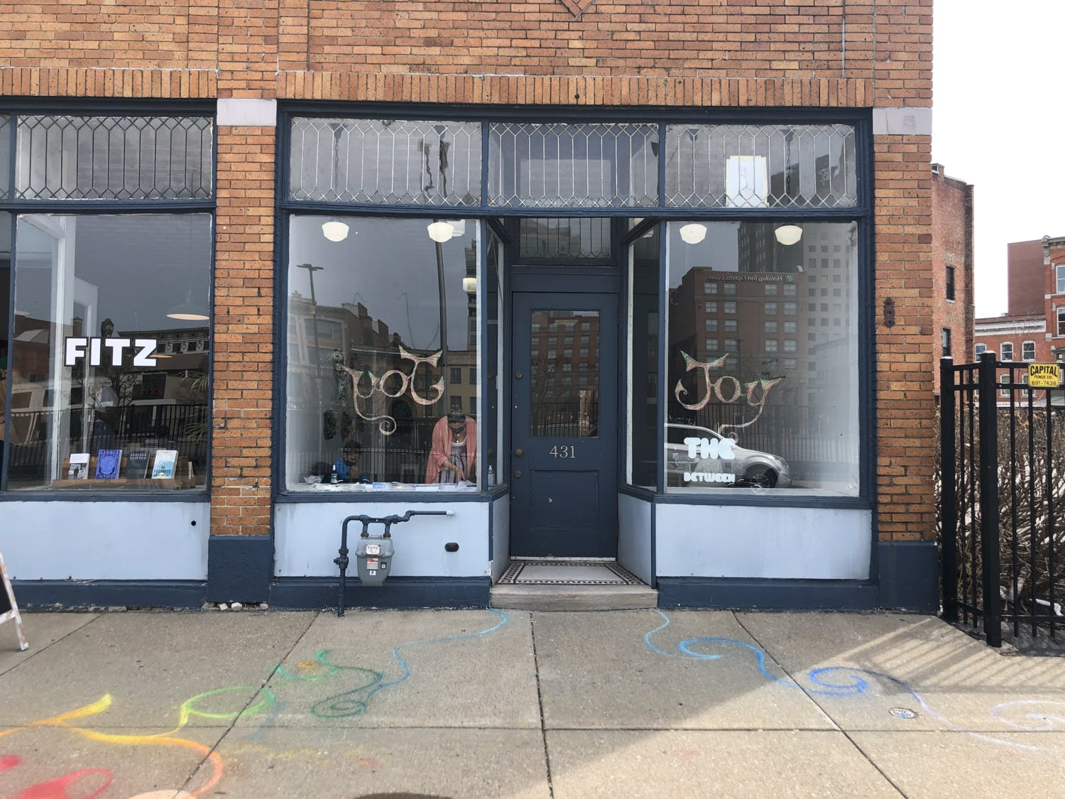 """Welcome to """"The Space Between,"""" the one-room studio the College of Arts and Sciences has rented downtown for $500 a month to showcase the artistic process."""