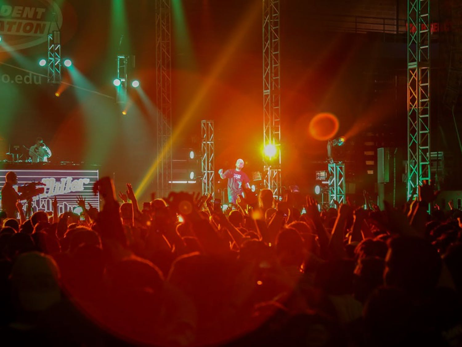 Approximately 6,500 people packed into Alumni Arena for this year's Spring Fest featuringThe Chainsmokers, Mac Miller, Icona Pop and Coleman Hell.