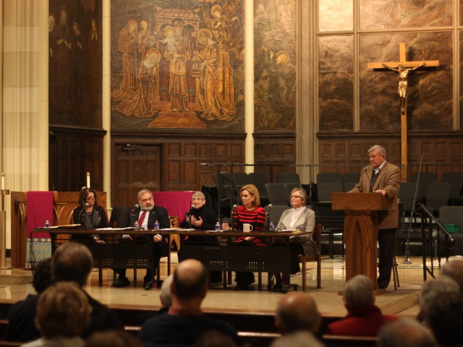 On Monday, St. Joseph's University Parish held a panel on how Catholics and the Diocese can move forward after the sexual abuse scandal. The Roman Catholic Church is in the midst of a sexual assault crisis which has affected Catholics around the world and right in Buffalo.