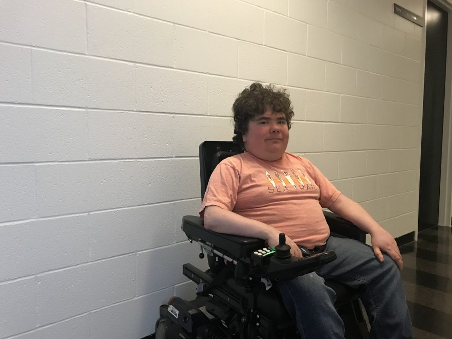 Graduate Student Zachary Dickman couldn't get into one of his classrooms last semester since the door was already closed and he couldn't get anyones attention inside.