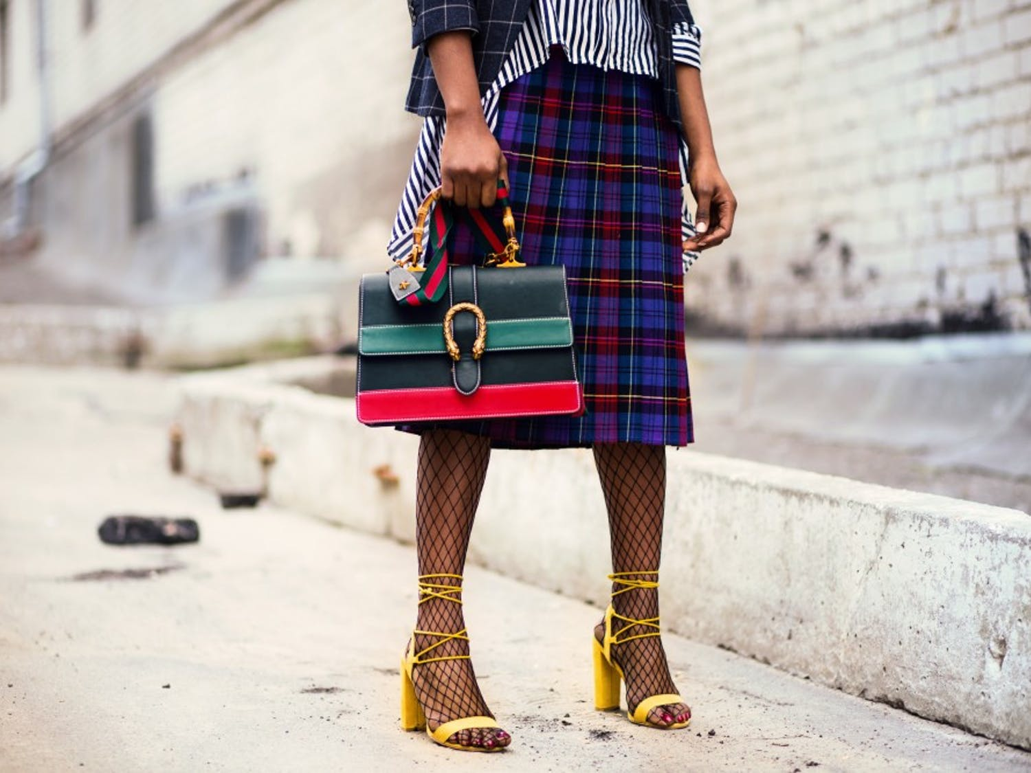Colorful plaid prints and tights are two of many upcoming fall trends you will see hit the halls of UB this semester.