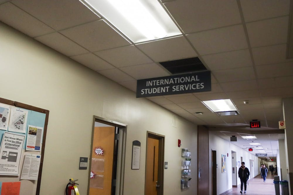 <p>The International Student Services office is located on the second floor of Talbert Hall.</p>