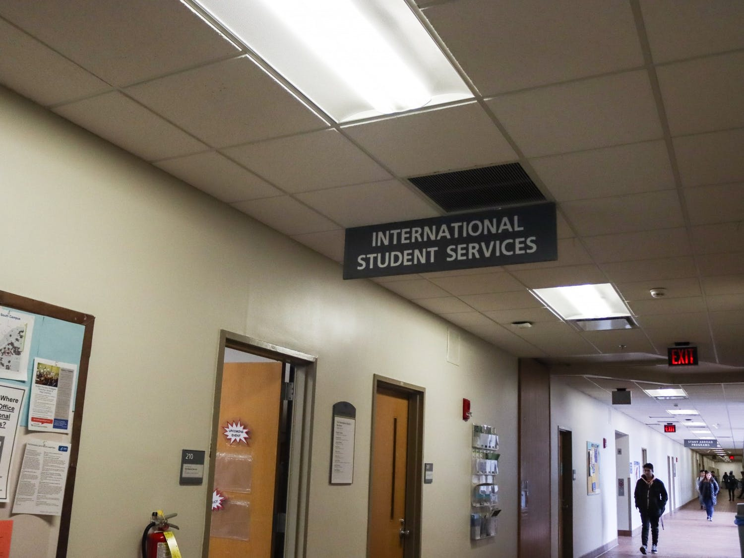 The International Student Services office is located on the second floor of Talbert Hall.