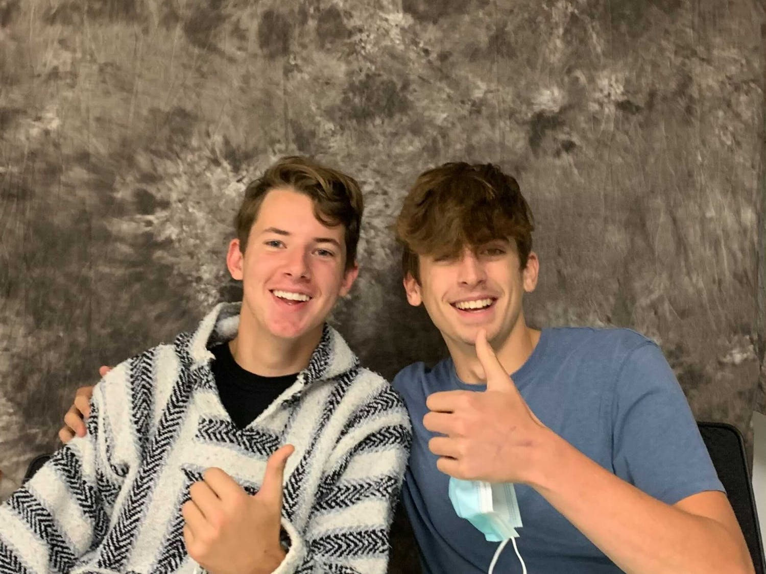 """Dubbed """"The Chair Guys"""" on TikTok, Hudson Alexander and Reilly Kasabri went """"viral"""" after posting a video of themselves performing chair-related skits around campus."""