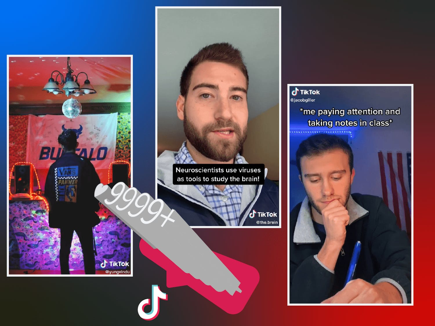 UB students have earned millions of views and likes on their TikTok videos.