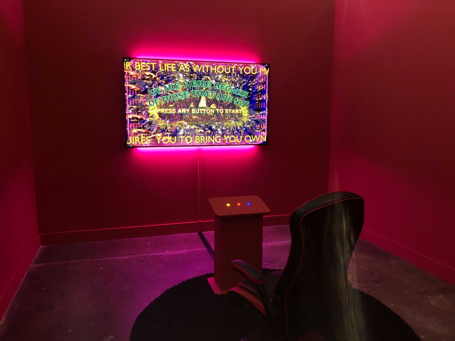 """Danielle Brathwaite-Shirley's art installation, """"WE ARE HERE BECAUSE OF THOSE THAT ARE NOT."""""""