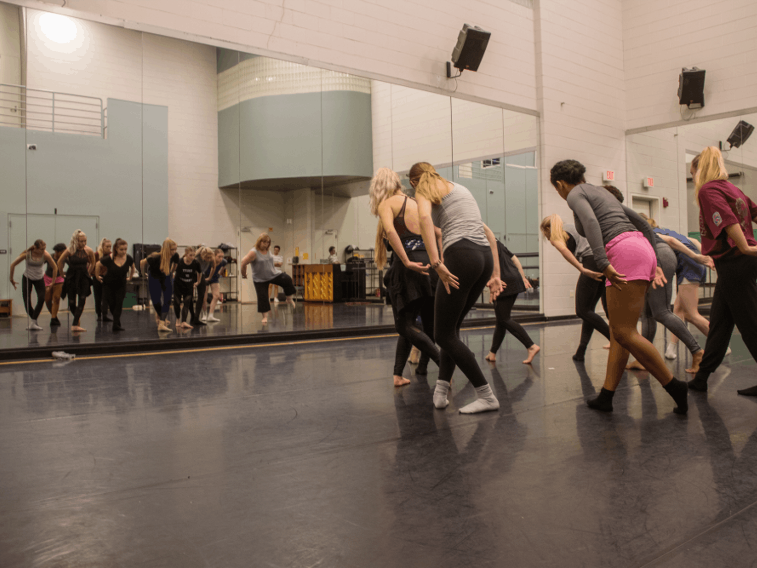 """Zodiaque dancers get in  formation for the jazz piece """"On the Grid."""" The piece will debut at the company's 44th season on Oct. 18."""