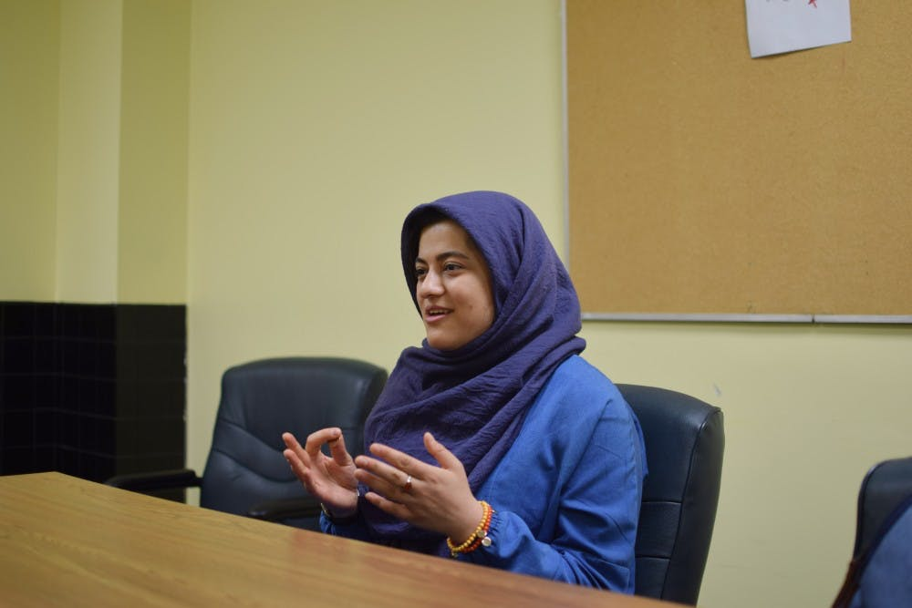 <p>Faegheh Hajhosseini talks about her journey from Iran to Buffalo and the difficulties obtaining her student visa.&nbsp;</p>