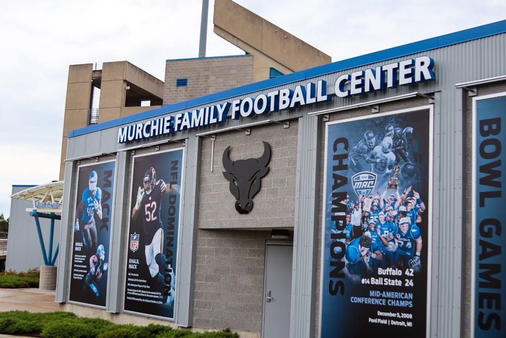 <p>The Murchie Family Football Center is home to coach's offices, head coaches suit, and 9 team meeting rooms.</p>