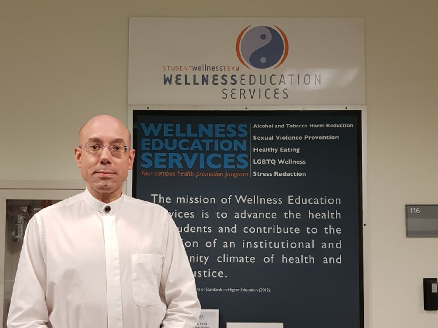 Johannes Nitsche, a SUNY distinguished professor in the chemical and biological engineering department, said his department is the source of violence prevention and safety workshops hosted by Health Promotion in September.