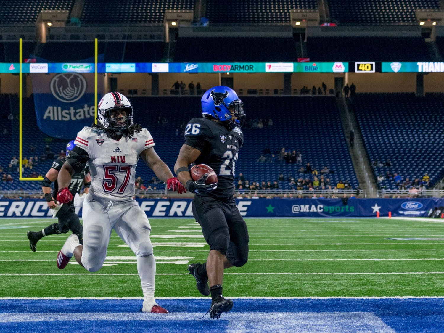 Northern Illinois defeated UB 30-29 in the 2018 Marathon MAC Championship Game at Ford Field in Detroit. More than two years later, the conference has changed its transfer policy.