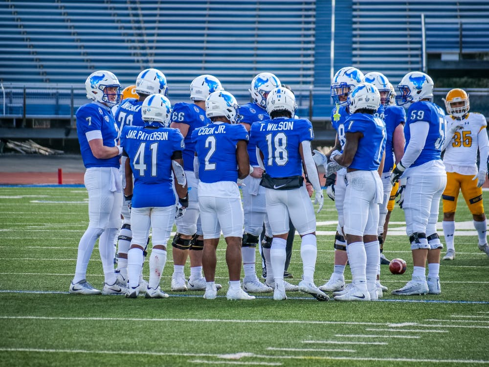 UB head coach Maurice Linguist said Tuesday that more than 90% of his team is vaccinated against COVID-19.
