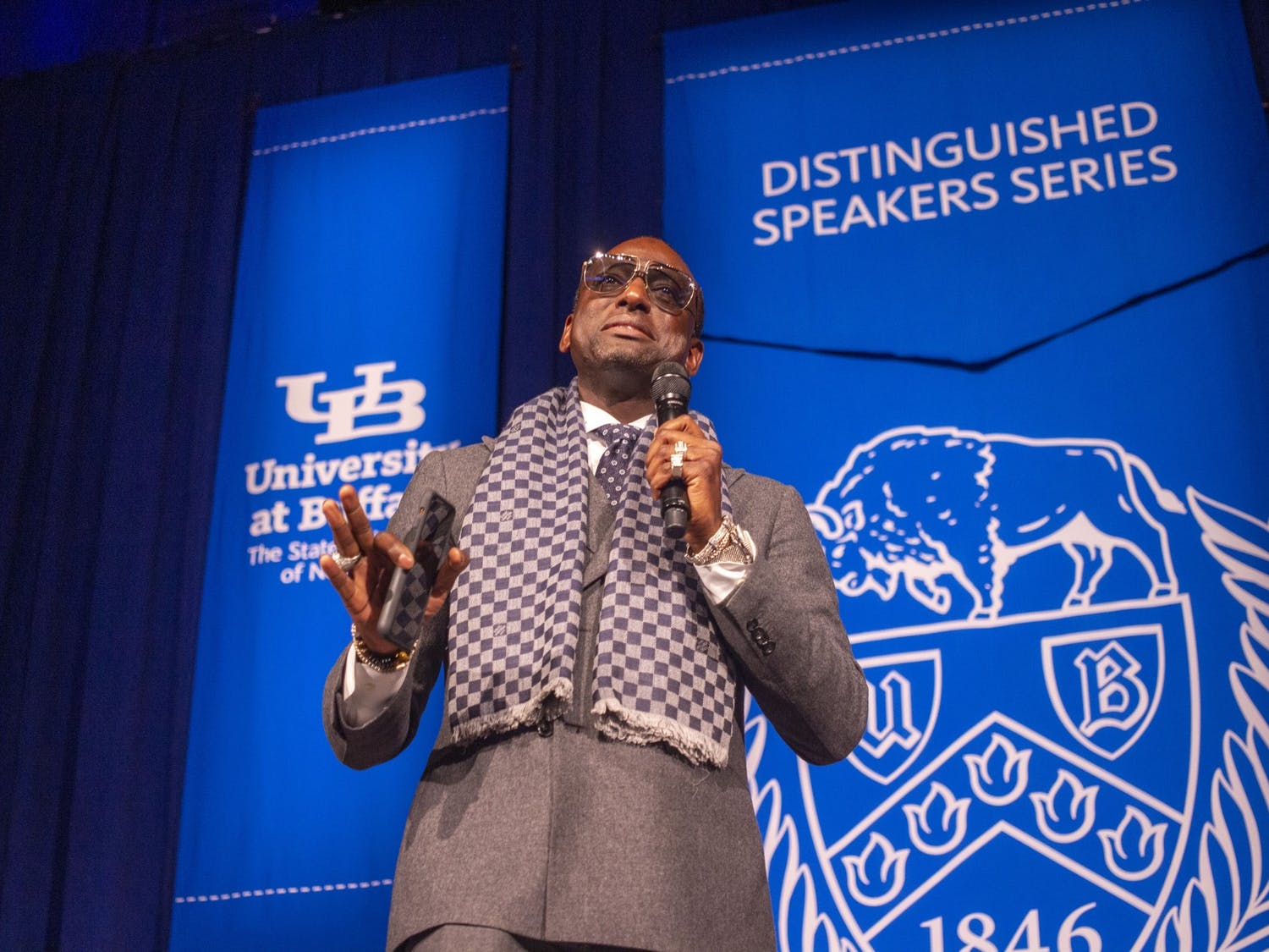 UB Distinguished speaker, Yusef Salaam shares his experiences as a criminal justice advocate and member of Central Park Five.