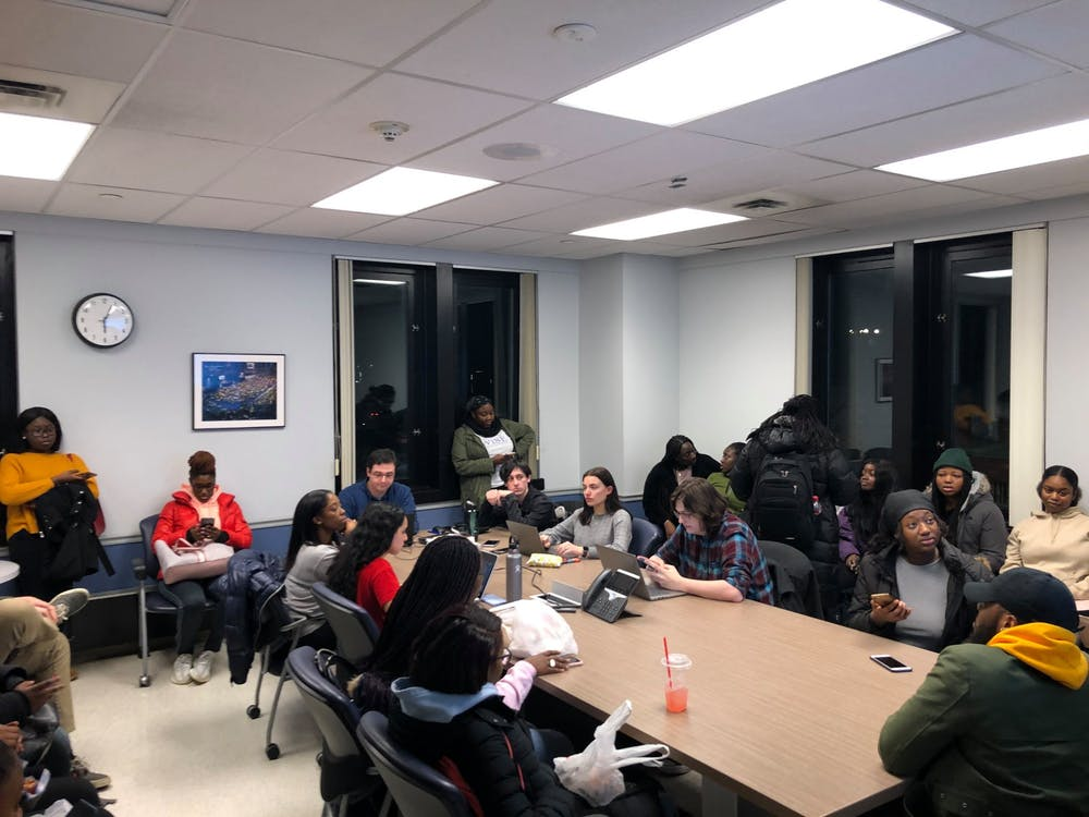 <p>Roughly 40 students attend Student Association Board of Directors' Rules, Administration and Government Oversight Committee meeting on Tuesday.</p>
