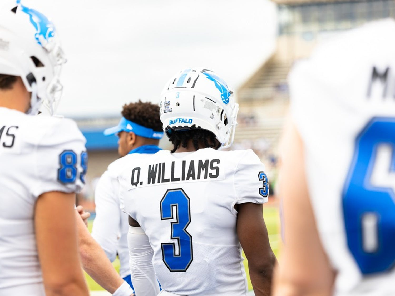 Wide receiver Quian Williams has emerged as the Bulls' top receiver after transferring from Eastern Michigan during the offseason.