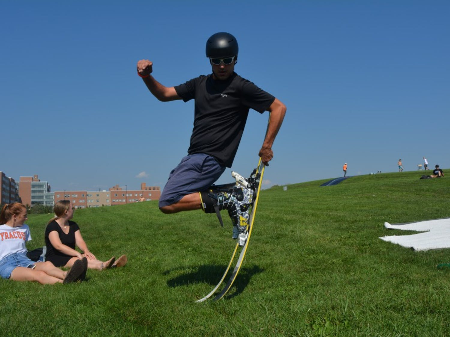 """Schussmeisters Ski Club hopes to recruit new members with their annual """"Rail Jam"""" event."""