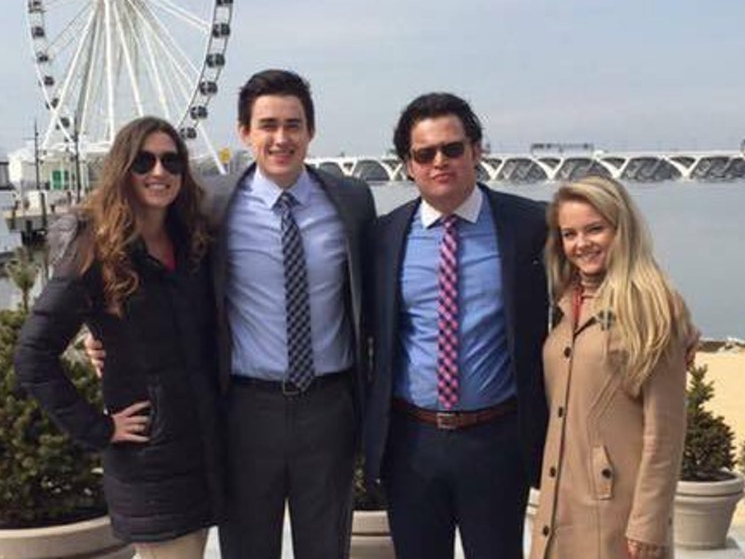 The parents of former UW-Madisonstudent Beau Solomon, who is pictured second from the right, are suing John Cabot University for negligence after their son was found dead in the Tiber River last year.