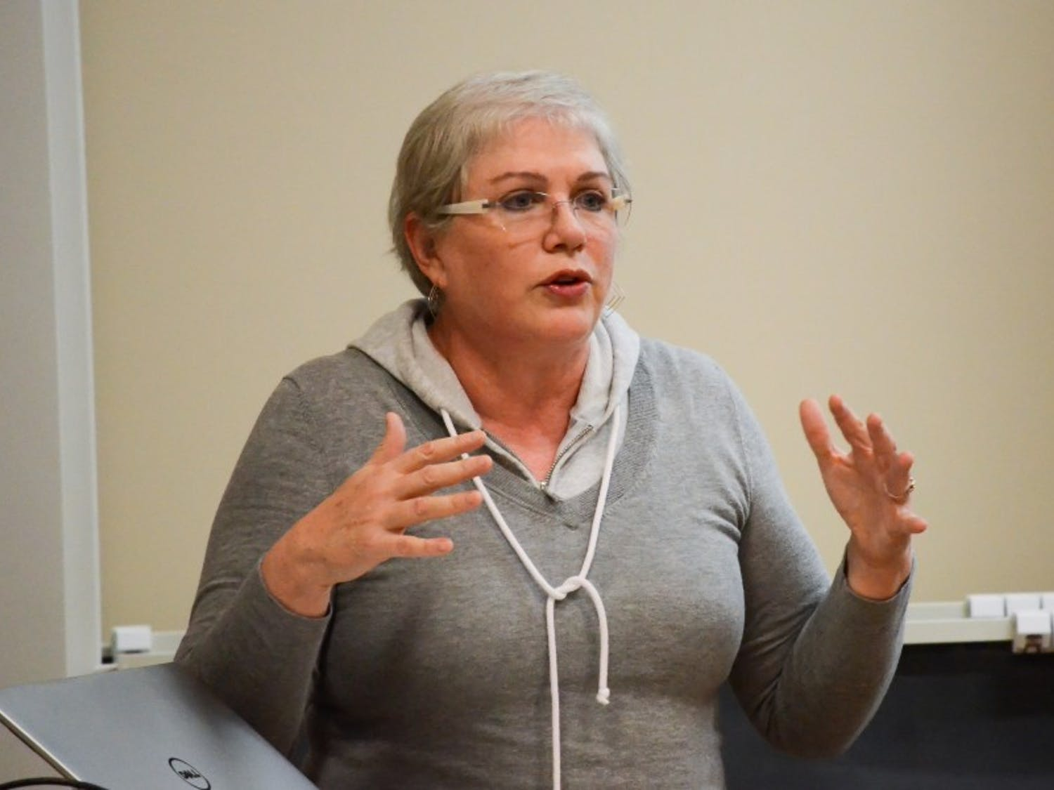 """Former Saturday Night Live writer and cast member Julia Sweeney shared pieces from her monologue, """"Letting Go of God,"""" that details her decision to become an atheist."""