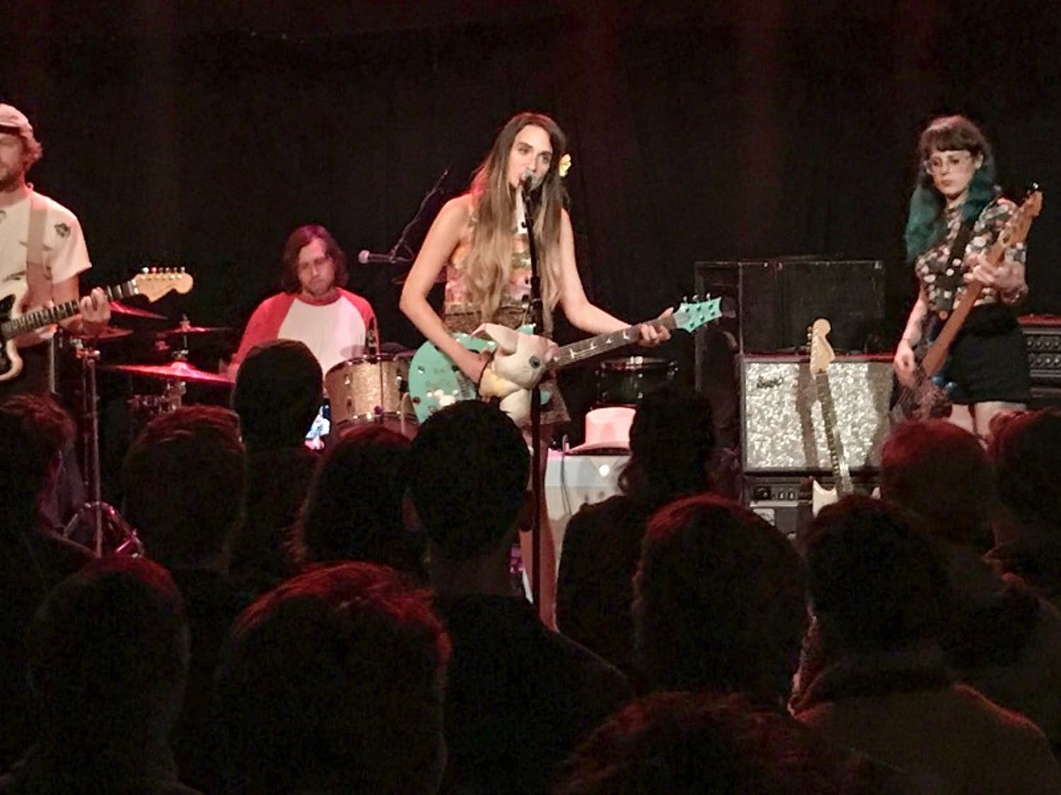 Speedy Ortiz performs gritty, indie rock to a subdued audience last Tuesday at High Noon Saloon.
