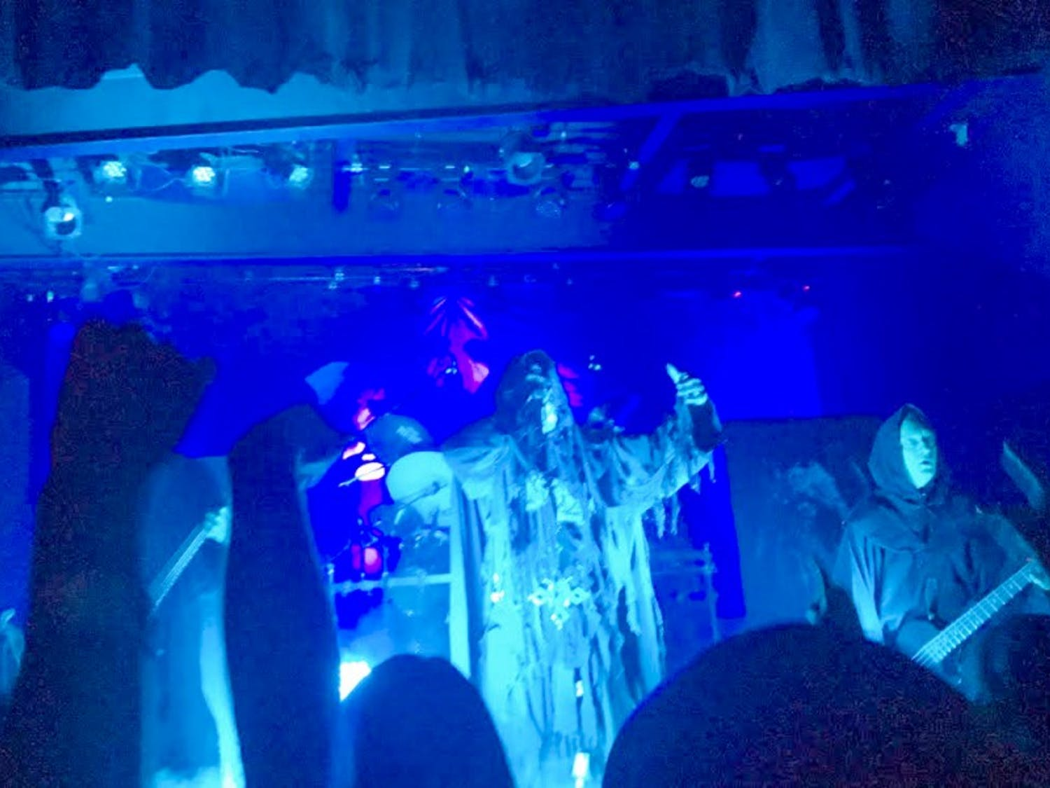 Mayhem gave a theatrical performance at Majestic on Tuesday, complete with Satanic costumes and props.