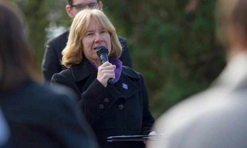 Former UW-Whitewater Chancellor Beverly Kopper, who resigned following sexual harassment allegations against her husband, is on paid leave instead of teaching classes this fall as planned.